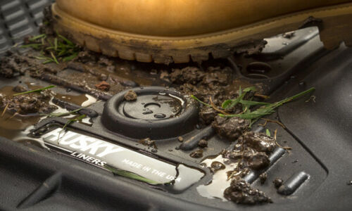 Husky Liners Weatherbeater fits 2019 Hyundai Santa Fe Front Row Floor Mats BLACK