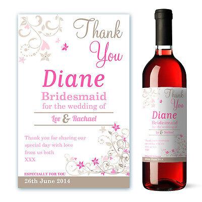 Personnalisé Bridal Shower mariée Vin étiquette cadeau
