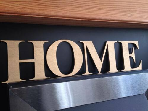 Custom Made Large Wooden Wall Door Name Sign Letters Personalised size 22cm