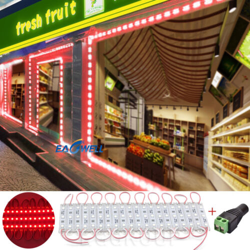 40/' ft RGB Store Front LED Window Light Module Sign Lamp power supply Remote