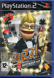 BUZZ-Holliwood-quiz-PS2-GIOCO-PLAY-STATION-2-NUOVO-SIGILLATO