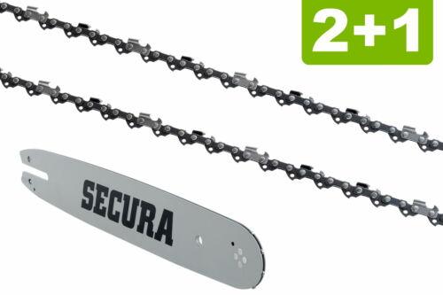 Schwert passend für Shindaiwa 352S35cm 3//8LP 52TG 1,3mm 2 Sägeketten