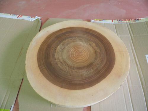 ca.45 x 15cm Holzscheibe geschliffen Baumscheibe Esche geölt