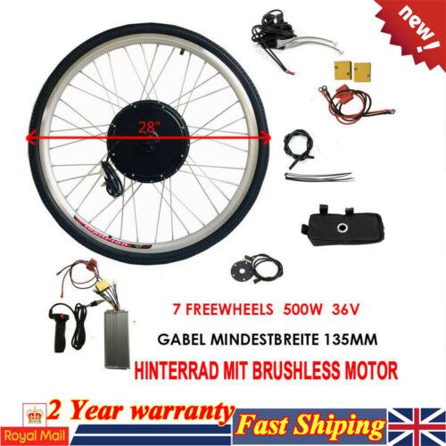 "500W 36V Motor Electric Bicycle E Bike Motor Conversion Kit 28/"" for Rear Wheel"