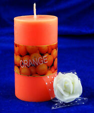 Orange Scented Pillar Candle Wax Candles Holiday Wedding Party Home Decoration