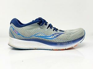 Saucony-Mens-Ride-ISO-2-S20514-1-Gray-Blue-Running-Shoes-Lace-Up-Low-Top-Size-10