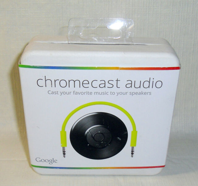 New Google Chromecast Audio RUX-J42 Wi-Fi Wireless Music Streaming LATEST MODEL