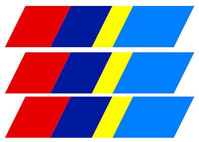 3 X Bandes Pour Peugeot 205 Sport Gti Calandre 21cmx4,5cm Sticker Auto Ba224 Badges, Insignes, Mascottes Auto, Moto – Pièces, Accessoires