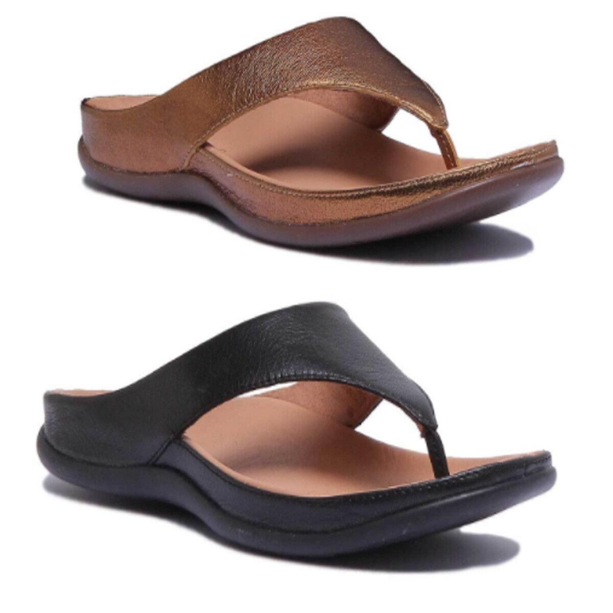 STRIVE Damen Sommer Fubbett Leder Slide Sandale Größe EU 35 - 40