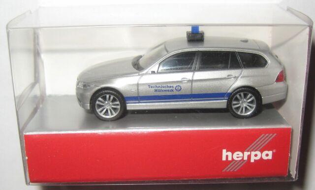 Herpa 048064 BMW 3er touring THW - Technisches Hilfswerk silber/blau 1:87