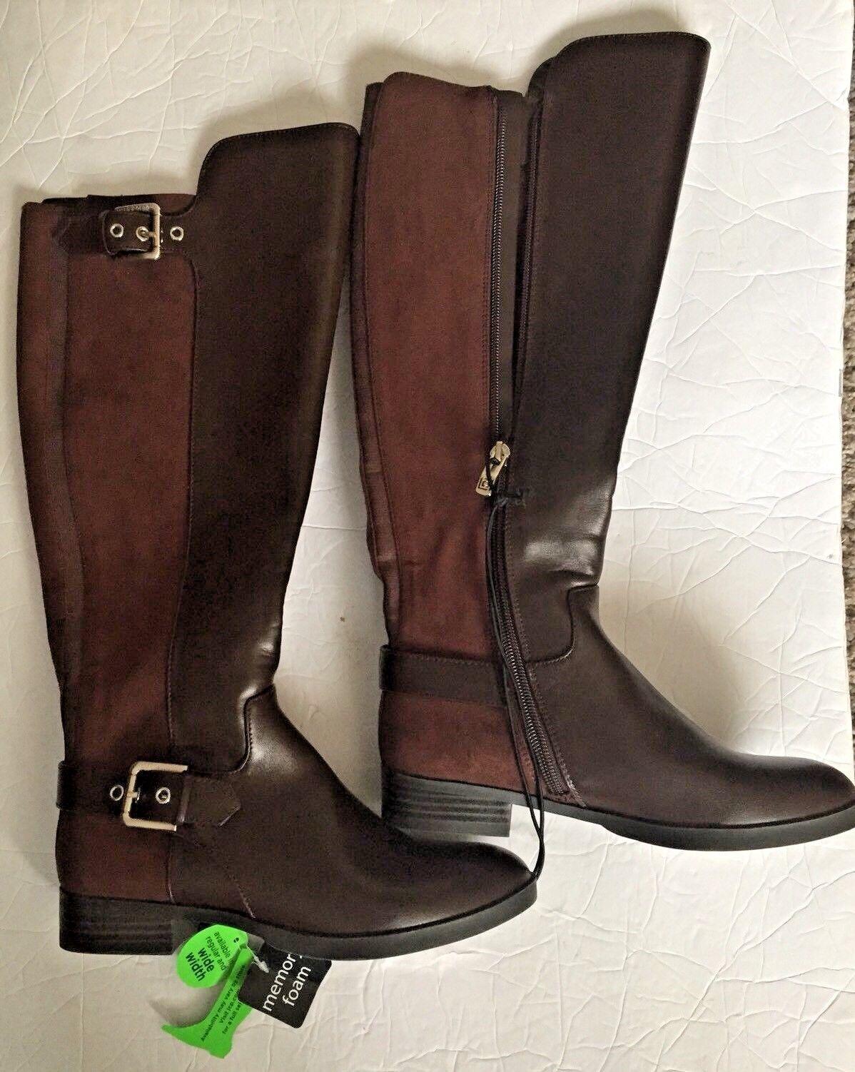Womens Liz Claiborne Dallas Riding Style Fashion Boots. Brown. Size 5 M