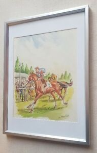 Leo-Rawlings-1918-1984-original-signed-water-colour-painting-The-Grand-National
