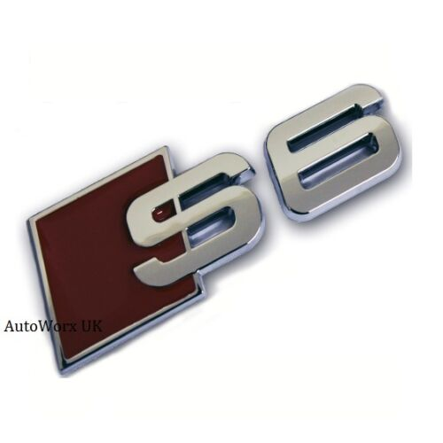 S6 Badge Emblem Decal Sticker Logo A5 RS6 RS S Audi boot lid rear trunk tailgate