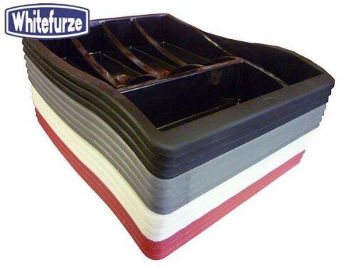Whitefurze Plastique à couverts argent Cuisine Tiroir de rangement Maison Nouveau