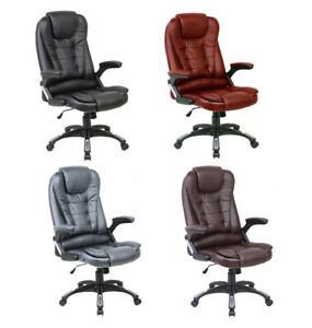 Neo-Executive-Leather-Gaming-Computer-Desk-Office-Swivel-Reclining-Chair