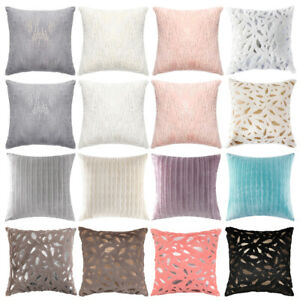 Throw-Pillow-Cover-Case-Velvet-Soft-Striped-Feather-Sequin-for-Sofa-Cushion-Case