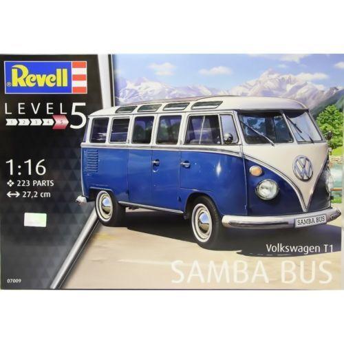 Kasten 1  16 furgone vw t1 samba - bus revell lunghezza 27,2 cm kunst 07009
