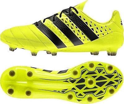 Adidas Ace 16.1 FG Leather Cam Fussballschuh s79684 Solar YellowCore Black | eBay