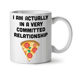Relationship With Pizza NEW White Tea Coffee Mug 11 oz | Wellcoda