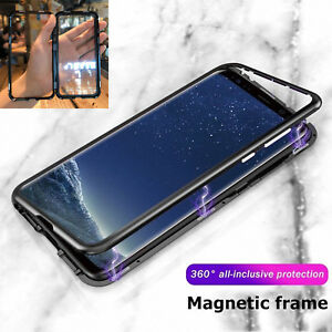 new concept 89a25 6b823 Details about Magnetic Absorption Phone Case Metal Edge Cover For Samsung  Galaxy S9 S8+ Note 9