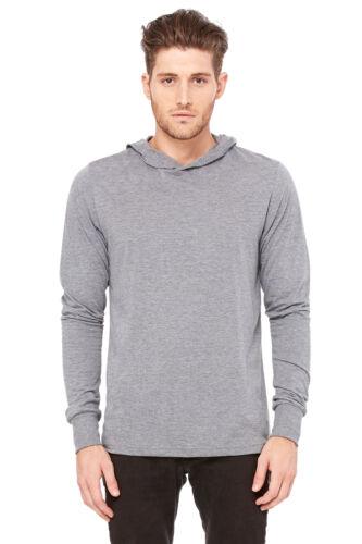 Da Uomo con Cappuccio in jersey a maniche lunghe T-Shirt Tee Top-crossover scollatura V-montato