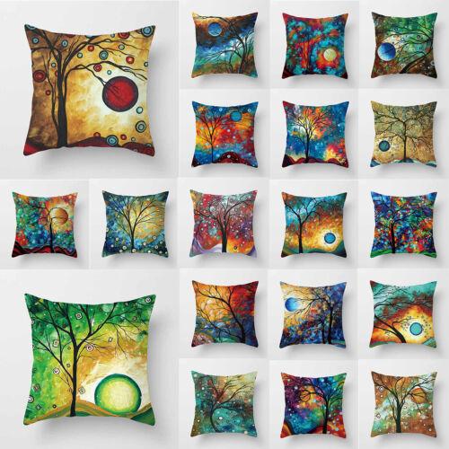 Maison moderne Decorative Throw Pillows Case peinture Arbre Oiseau Lin Housse de coussin