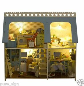 My lucky house wooden diy handcraft miniature project dolls house ebay - Portafortuna casa nuova ...