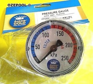 Pressure-Gauge-Back-Mount-use-for-Sand-Cartridge-DE-rust-free-case-PPG504