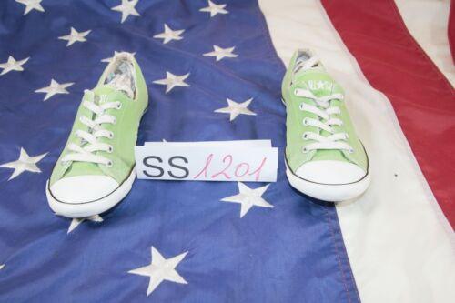 Scarpe CONVERSE All Star Basse Verde Cod. SS1201 usato N.38 EU Scarpette Donna