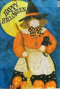 """Good Witch Halloween Standard House Flag, by Toland 28"""" x 40"""", #1762"""