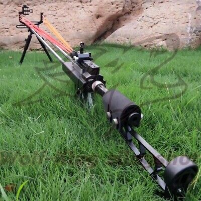 Powerful Hunting Slingshot Catapult Stainless Steel Safety Aiming Point Catapult