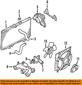 details about mitsubishi oem 03 12 eclipse engine coolant thermostat md194988  mitsubishi coolant diagram #10