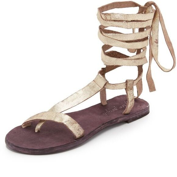 Free People People People orostone cuero genuino gladiador sandalias Dahlia Lace up sandals talla 41  a la venta