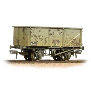 Bachmann-37-253B-OO-Gauge-BR-Grey-16T-Steel-Mineral-Wagon