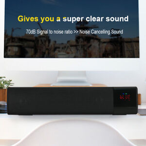 Altoparlante-Bluetooth-Stereo-Senza-Fili-Soundbar-TV-Con-LED-Radio-FM-Scheda-TF