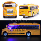 1:32 Yellow School Bus Diecast Model Pull Back Action Openable Door Gift Toy