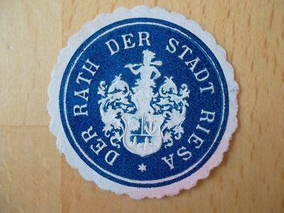 Rath Der Stadt Riesa SchöN Und Charmant Hell 15001 Siegelmarke
