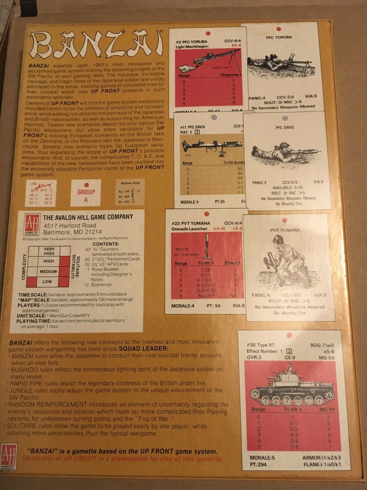 Banzai - The Game Of Tactical Warfare In In In The S.W. Pacific 1941-1945 86db1a