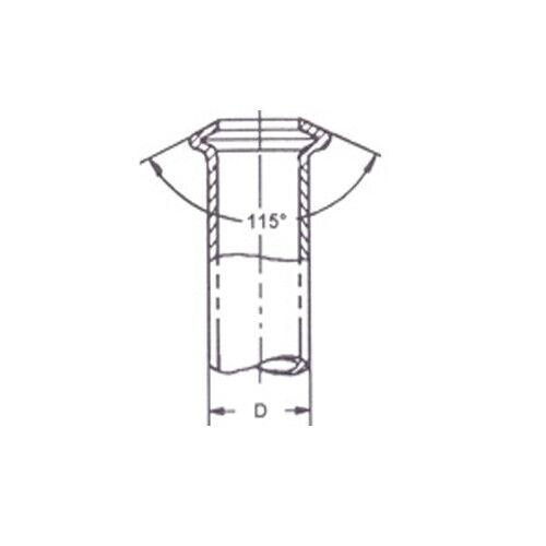 Linea f-f 20cm VStream 200mm pezones bremsleitungsnippel m10x1