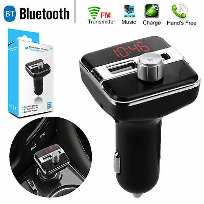 T20 Wireless Bluetooth Car MP3 Player FM Transmitter Radio Dual USB Charger ND