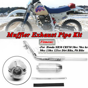 Exhaust-Pipe-Muffler-For-HONDA-XR50R-CRF50F-50cc-70cc-90cc-110cc-125cc-Dirt
