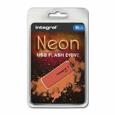 Integral 16GB Neon USB Stick - in Orange.