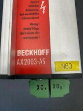 Beckhoff Ax2003 As Digital Servo Amplifier