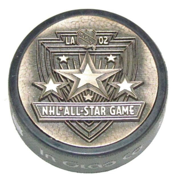 2002 NHL ALL-STAR GAME 3D METAL BRONZE PUCK Rare! Los Angeles Kings Logo 3-D
