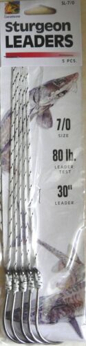"Leader 15 Total 3 Packs Danielson Sturgeon dirigeants sans ardillon 7//0 Crochet 30/"" 80 lb environ 36.29 kg"