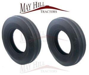 Pair 600 6.00 x 16 BKT Front Tyre 3 Rib Massey Ferguson 35 135 Fordson Tractor 2