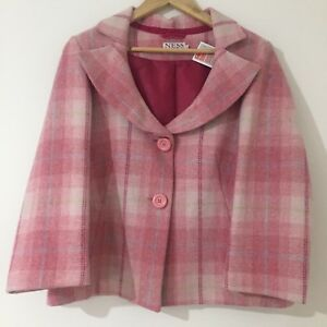 Ness 100 Co Giacca Clothing Scotland in lana rosa Authentic blazer 14 fBrfpwq
