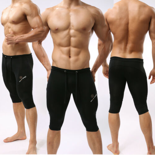 Men/'s Sports Shorts Fitness Swimming Trunks Running Yoga Fifth Pants Tights