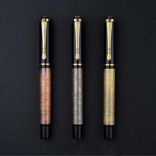 BAOER 507 Metal Bronze China Fountain Pen Smooth Fine 0.5mm Nibs Writing Gift