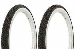 "Duro Bicycle Bike Tires /& Tubes 20/"" x 1.75/"" Black//White Lowrider Side Wal 1PAIR"